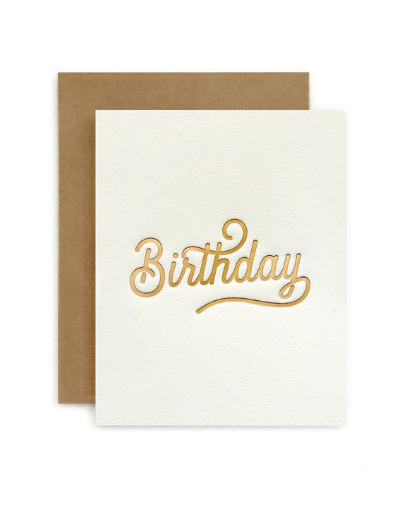 'Birthday' Petite Greeting Card