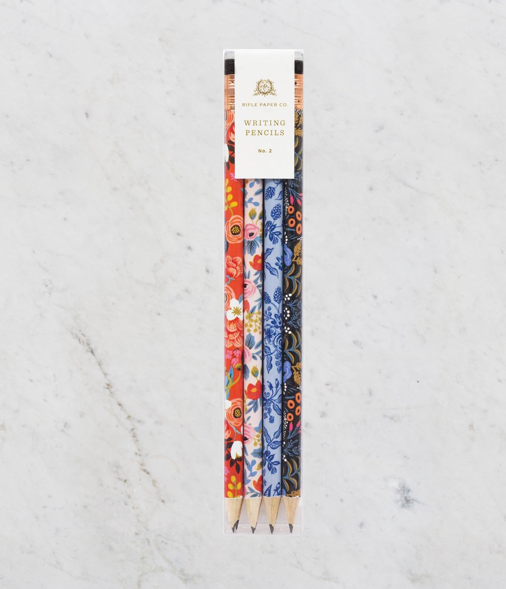 'Floral' Writing Pencils