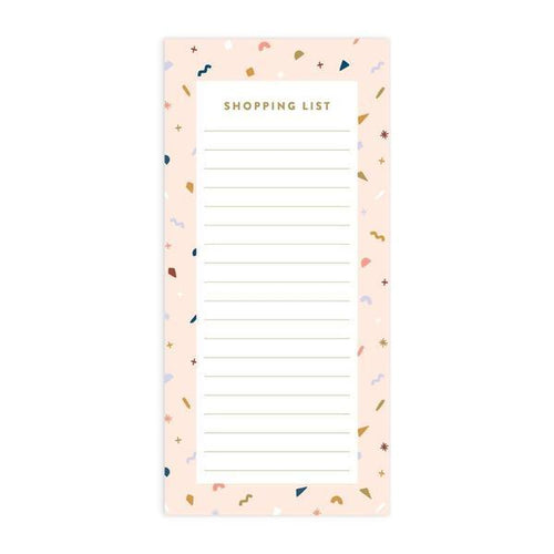 Confetti 'Shopping List' Magnetised DL Notepad