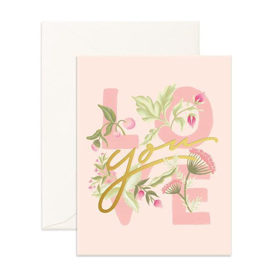 'Love You' Floral Greeting Card
