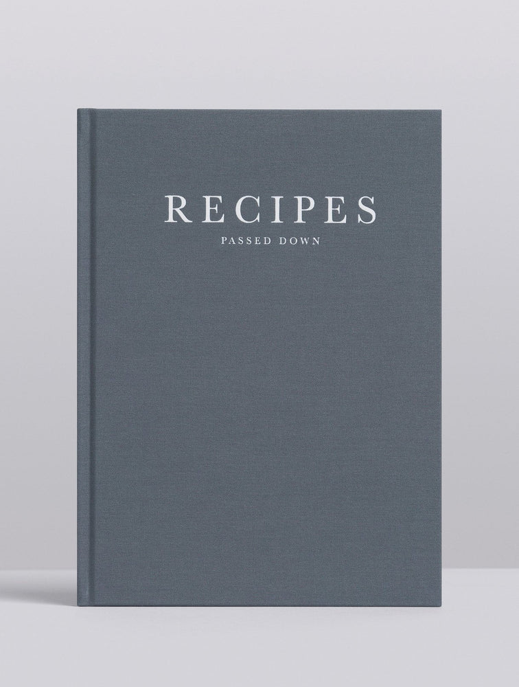 'Recipes Passed Down' Recipe Journal in Stone Linen