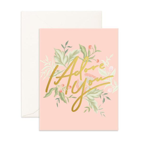 'I Adore You' Greeting Card
