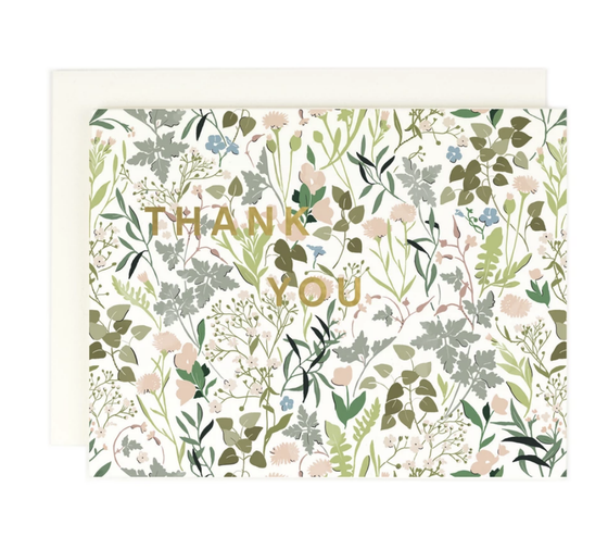'Thank you' Wildflower Greeting Card