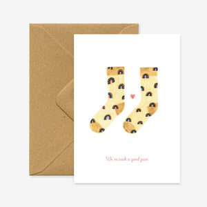 'Such a Good Pair' Socks Greeting Card