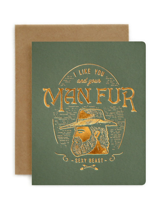 'Man Fur' Birthday Greeting Card