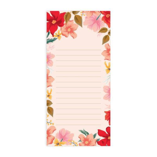 Poppy 'Lined Blank' Magnetised DL Notepad