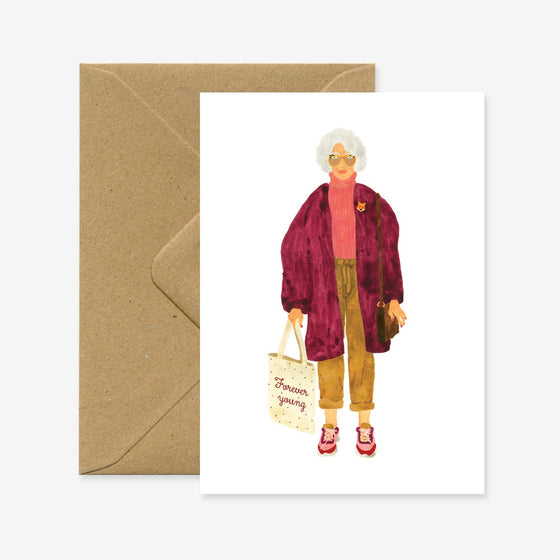 'Forever Young' Greeting Card