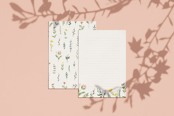 'Wild Flowers' Letter Writing Paper