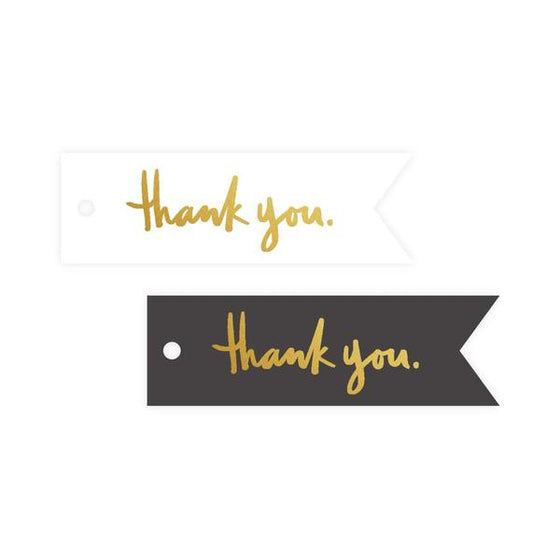 Mini 'Thank You' Grey/White Gift Tags (8 Pack)