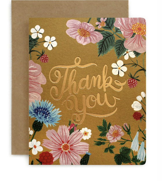 Folk 'Thank You' Greeting Card
