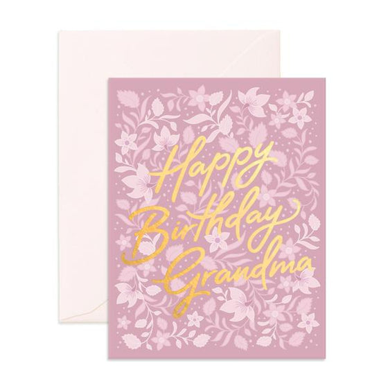 'Happy Birthday Grandma' Bohemia Greeting Card