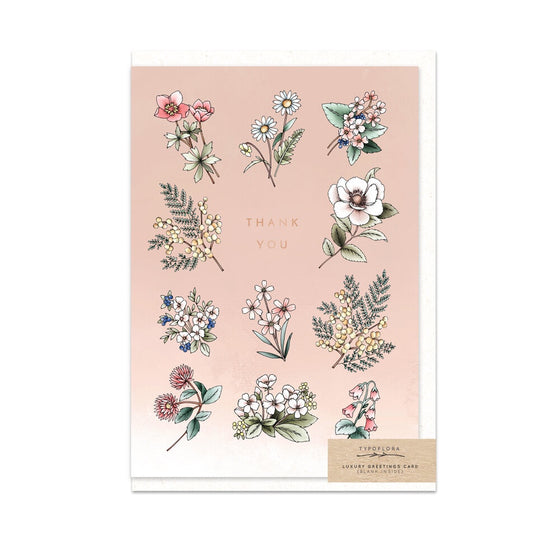 Wildflowers 'Thank You' Greeting Card