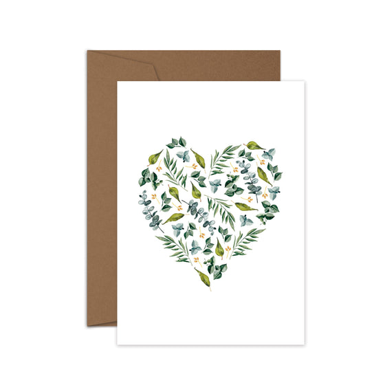 'Leaf Heart' Greeting Card