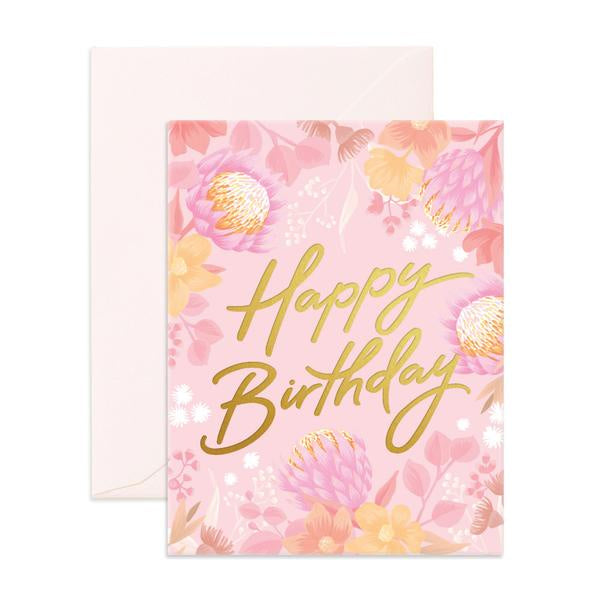 'Happy Birthday' Floribunda Greeting Card