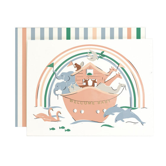 'Welcome Baby' Noah's Arc Greeting Card
