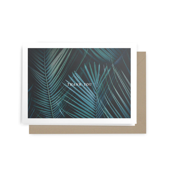 'Thank You' Palm Greeting Card
