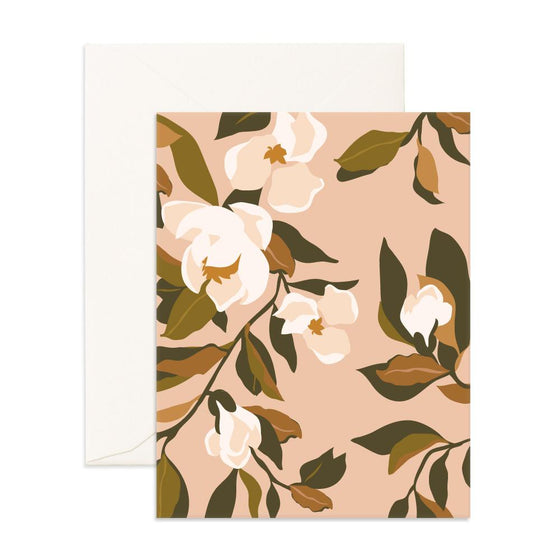 Blank 'Southern Magnolias' Greeting Card