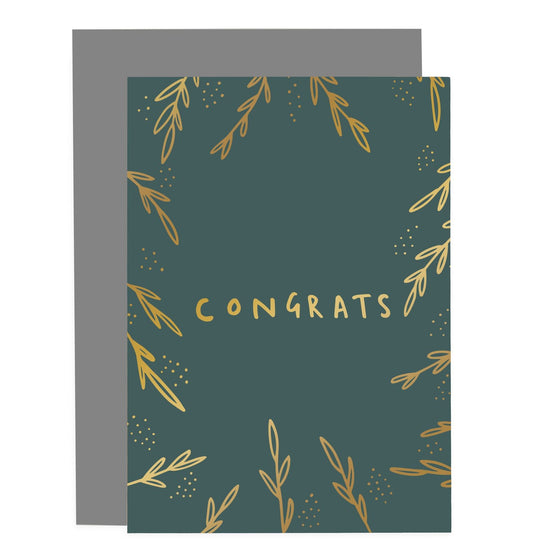 'Congrats' Greenery Greeting Card