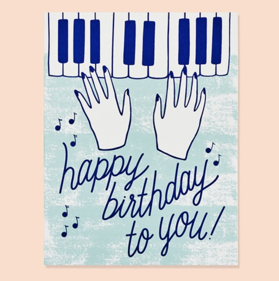 'Happy Birthday to You' Piano Greeting Card