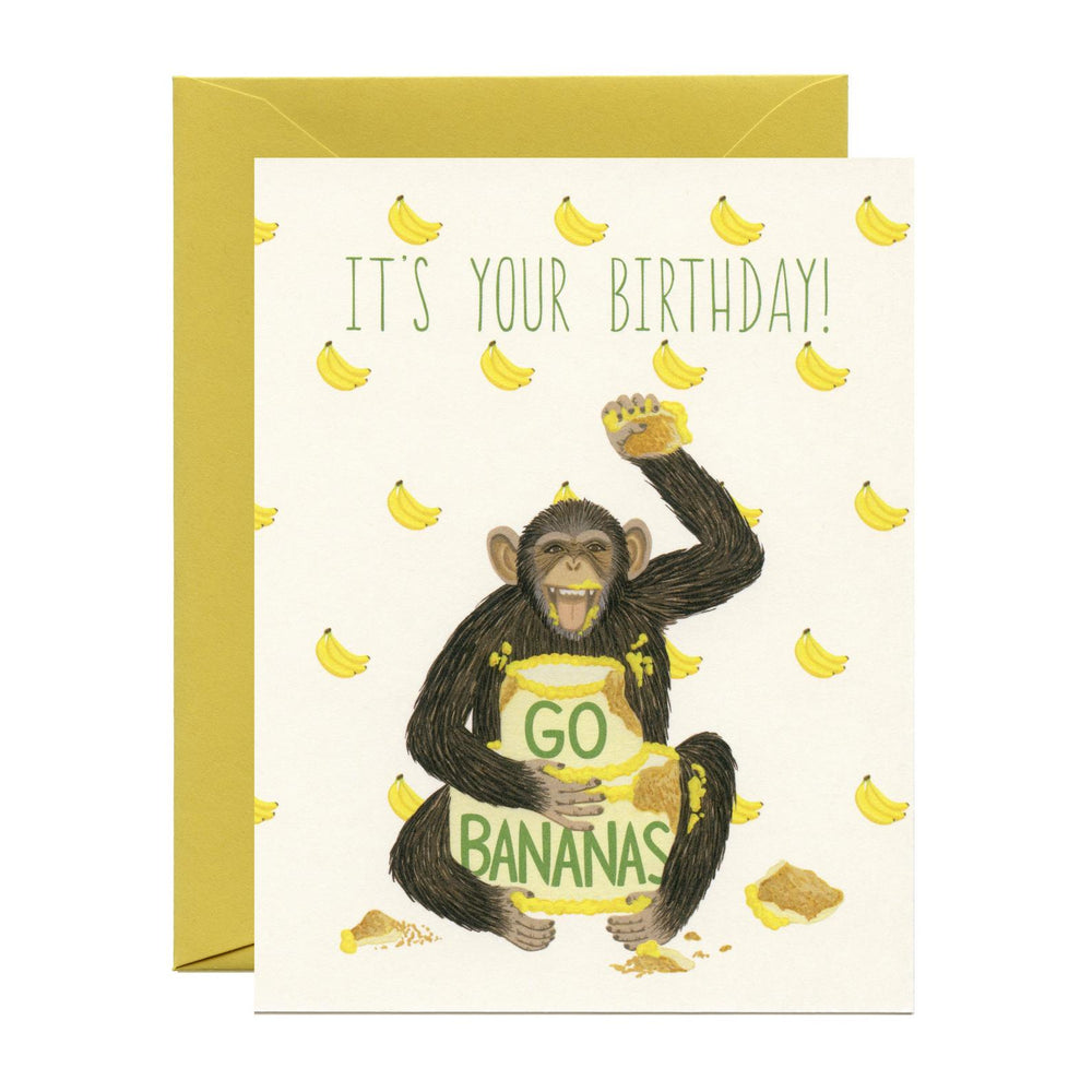 'It's Your Birthday Go Bananas' Greeting Card