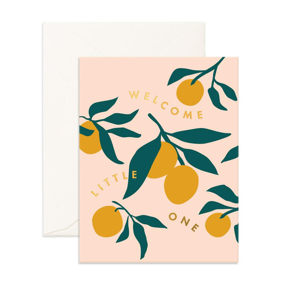 'Welcome Little One' Lemons Greeting Card