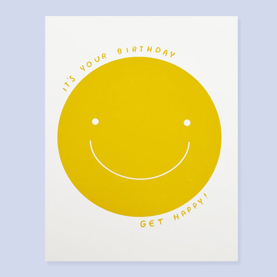 'Get Happy' Greeting Card