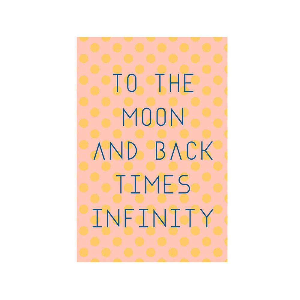 Load image into Gallery viewer, 'To The Moon & Back Times Infinity' Greeting Card