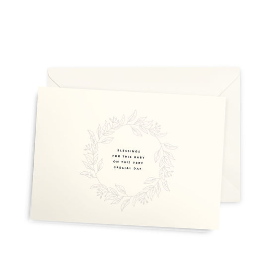 'Blessings For This Baby' Dedication Baptism Greeting Card