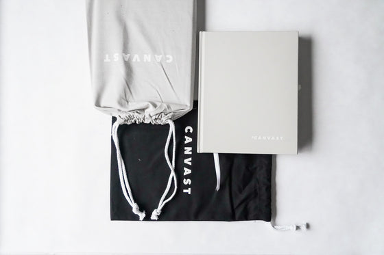 Canvast Dateless Yearly Life Planner & Tote Bag