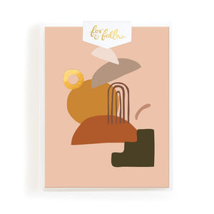 Blank 'Caramel Composition' Greeting Card Boxed Set