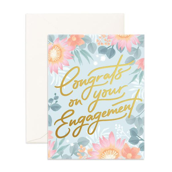 'Congrats On Your Engagement' Wildflower Greeting Card