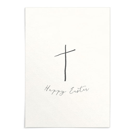 'Happy Easter' Cross Greeting Card