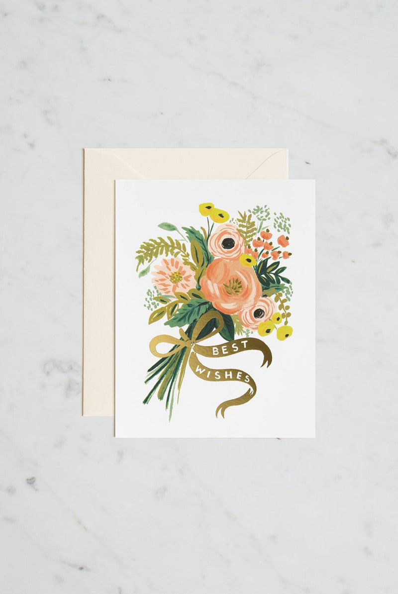 'Best Wishes Bouquet' Greeting Card