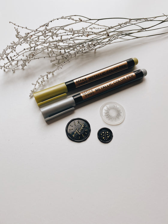 Metallic Markers for Wax Seals