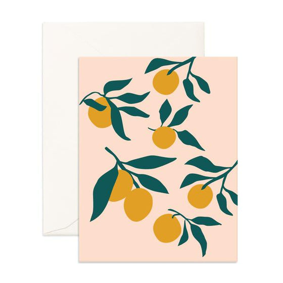 Blank 'Muse Lemons' Greeting Card