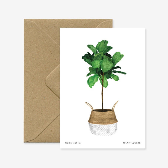 Blank Fiddle Leaf Tree Greeting Card