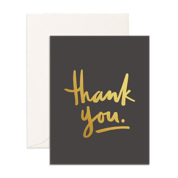 Black 'Thank You' Greeting Card