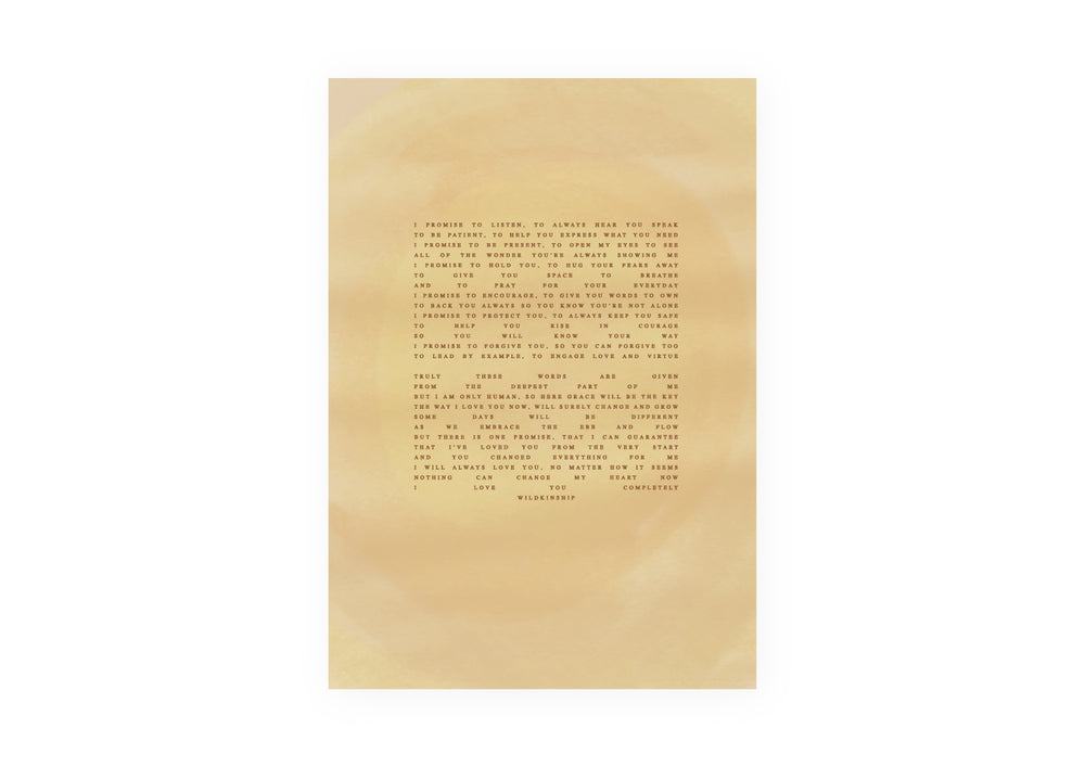 'Promises' Golden Poster (Size Options)