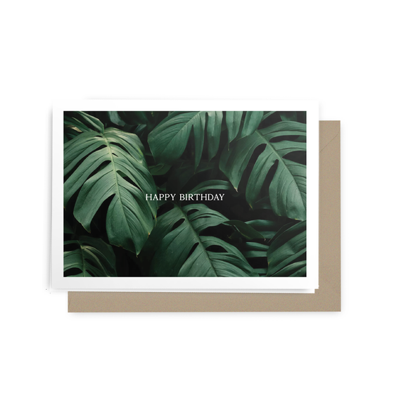 'Happy Birthday' Monstera Leaf Greeting Card