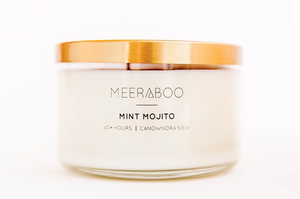 'Mint Mojito' Brass Lid Soy Candles
