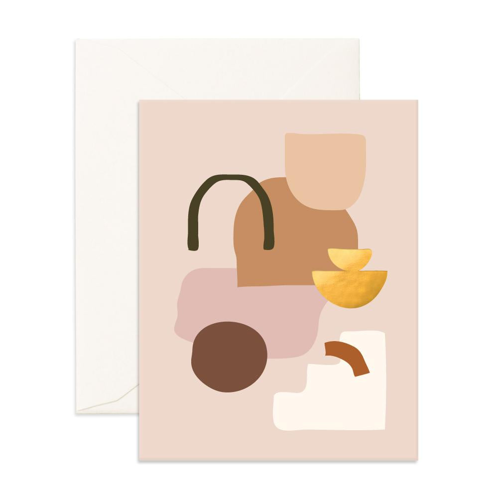 Blank 'Biscuit Composition' Greeting Card