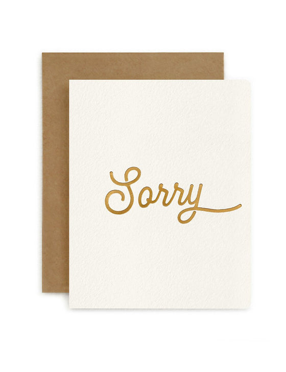 'Sorry' Petite Greeting Card