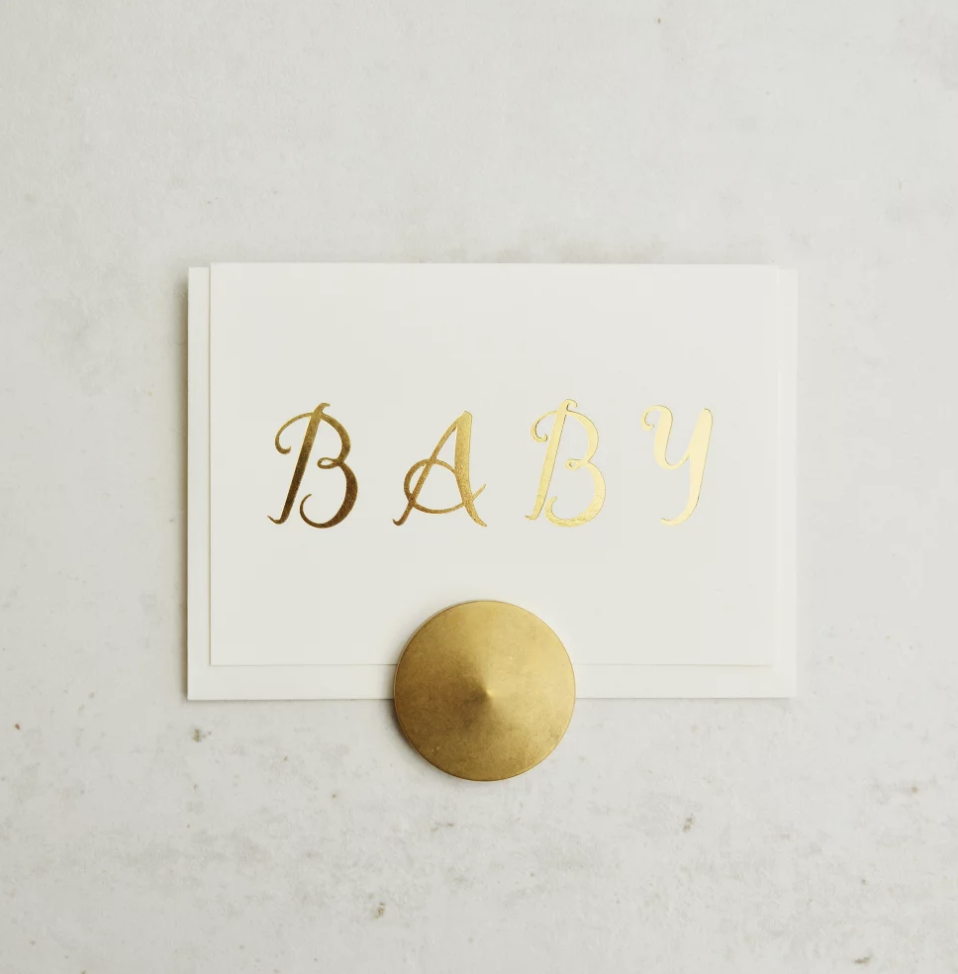 'Baby' Quill Greeting Card