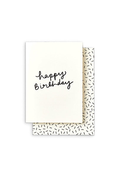 'Happy Birthday' Hand Written Greeting Card