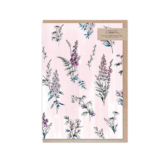 Blank 'Lilac Botanical' Greeting Card