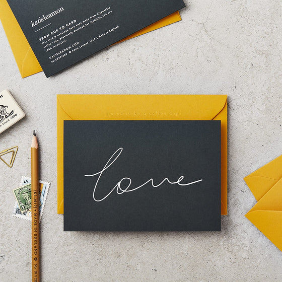 'Love' Scroll Greeting Card