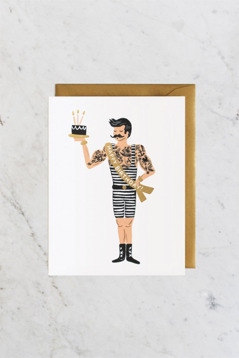 'Happy Birthday' Strongman Greeting Card