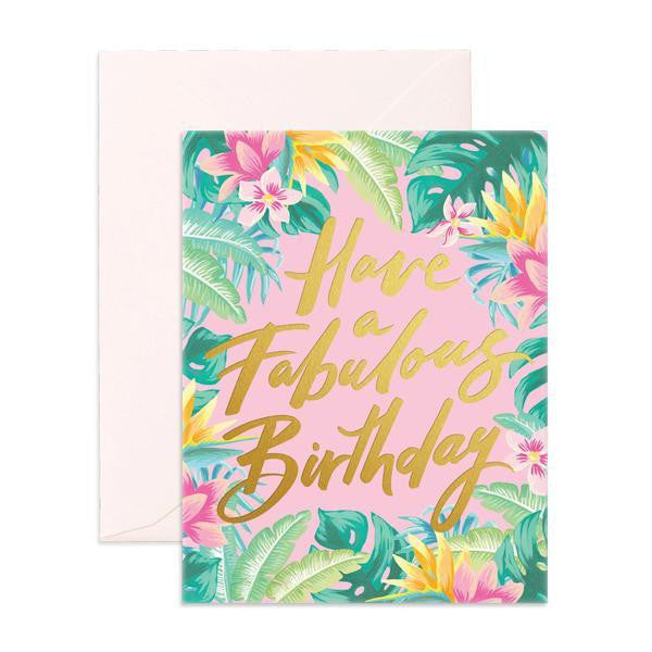 'Have A Fabulous Birthday' Jangala Greeting Card