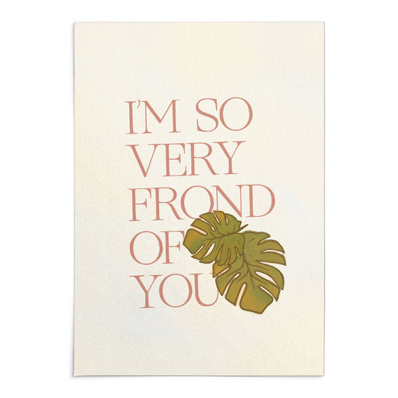 'So Very Frond of You' Greeting Card with Wax Seal