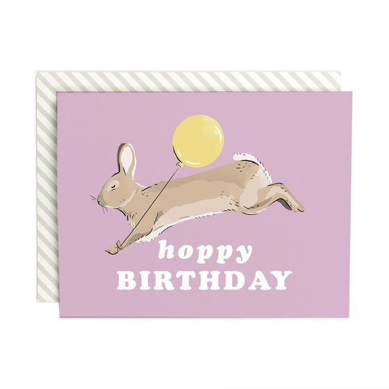 'Hoppy Birthday' Greeting Card